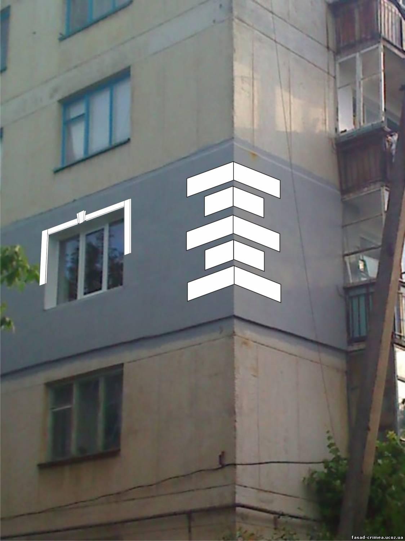 Декор из пенопласта на фасаде своими руками